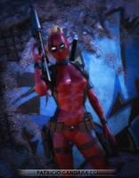 Lady Deadpool by PGandara