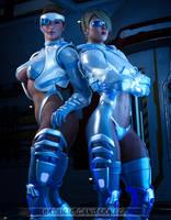 Cyber Girls by PGandara