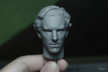 Benedict Cumberbatch 1:6 head WIP by dacoyoo