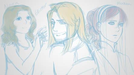Nuna, Callister, and Merain by Kajoua