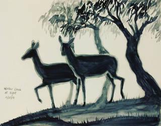 Inktober day 25 - Deer by meihua