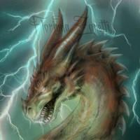 Thunder Dragon by FlorindaZanetti