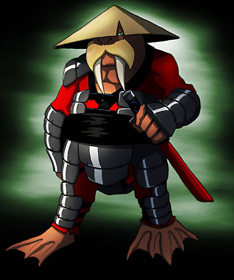Walrus Samurai by BlondinFrenchTouch