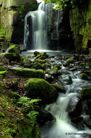 Lumsdale Waterfall 4 by MichaelJTopley