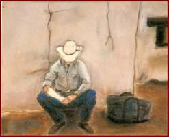 broken bone cowboy by Paintmouth