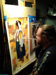 Kirk O'Hara - Mouth Painter - me painting (Sweet) by Paintmouth