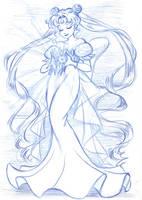 princess serenity by rumpelstiltskinned