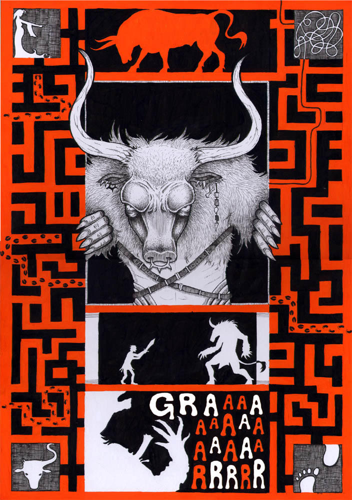 Poster - Minotaur by greyflea