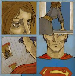 Superman comic page by greyflea