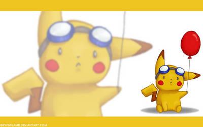 Flying Pikachu BG by gryphflame