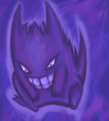 Pokemon- Gengar by gryphflame