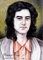 Jimmy Page color pencil by beckpage