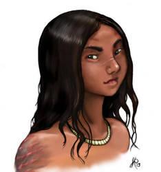 Amalay Portrait by JRinaldi