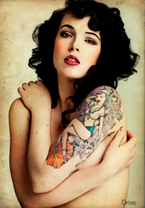 Pin Up Girl Tattoo By Vasichka On Deviantart