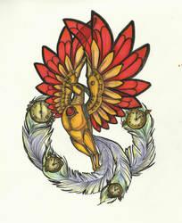 Clockwork firebird by pessimistic-orange