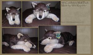 .: Cuddlekinz Wolf Plush :. by BeachBumDunkin