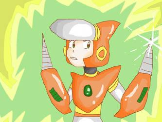 DWN-013 Crash Man [Megaman] by DoughnutDoggie