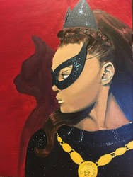 Catwoman Painting  by Colleen80