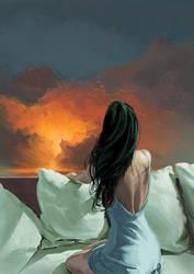 Some distant light by Julien-Bernard