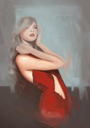 Red dress by Julien-Bernard