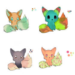 Foxish animal adopts. 10 points! by AChan-Adopts