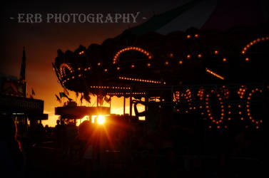 Sunset At The Fair by erbphotography