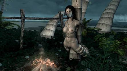 Skyrim SE - Lara Croft Slave 4 by m7seven