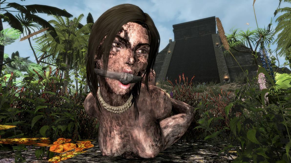 Skyrim SE - Lara Croft Slave 5 by m7seven