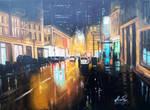 City by night by Ishyndar