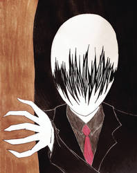 Slenderman (Again...) by ShyShadow22