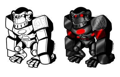 CyberApe Mascot 2012: unpaid by Chizel-Man