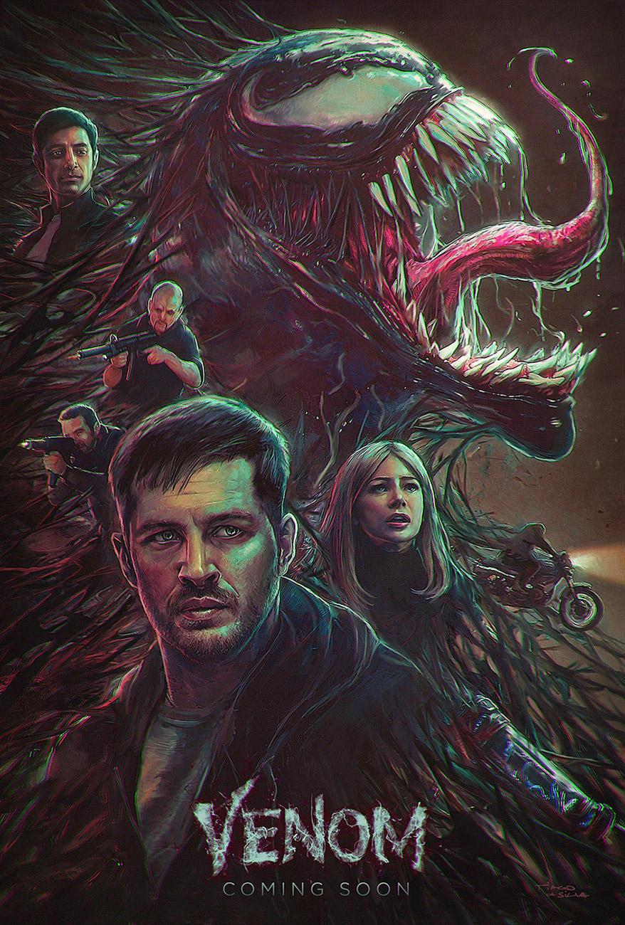Venom, Illustration movie poster by Grafik