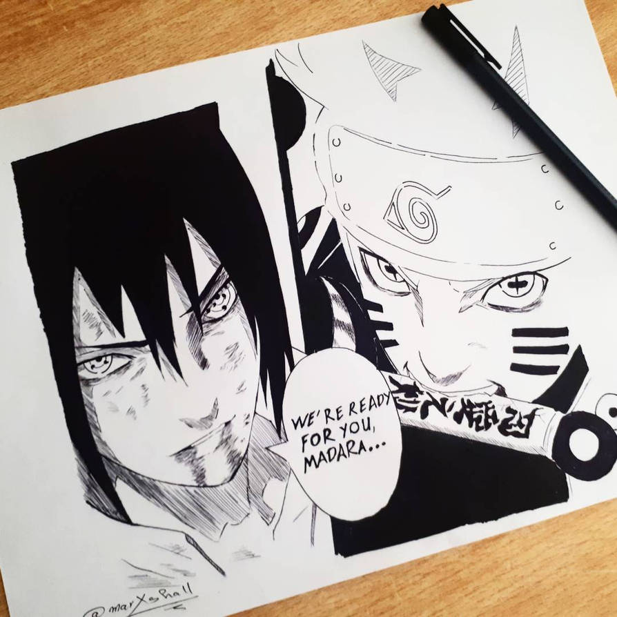 naruto and sasuke vs madara by marxshall on deviantart