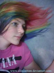Rainbow Hair Dos by ElIncantum