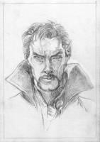 Dr. Strange (sketch) by KatyAmlie