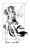 Scarlet Witch Inks by devgear