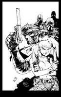 PSM cover Metal Gear Inks by devgear