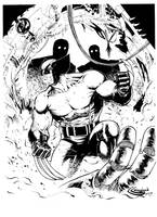 Wolverine vs Sentinels Inks by devgear