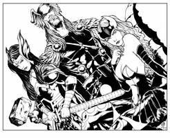 Lords of Asgard inks by devgear