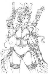 Lady Mechanika Inks by devgear