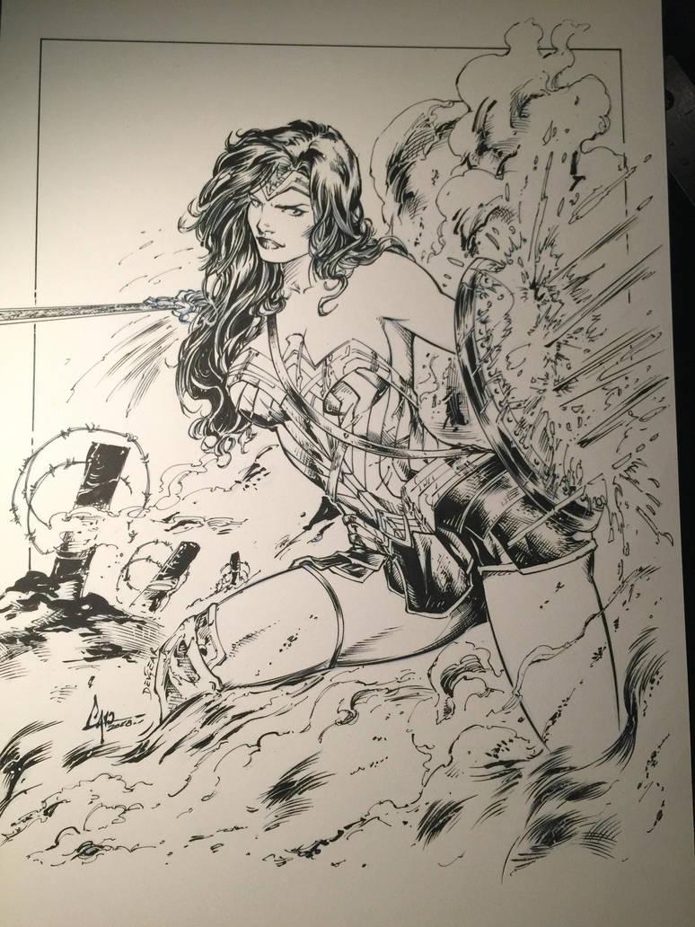 Wonder Woman Inks by devgear