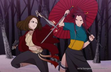 Tsubaki vs Sara by XxYorunoHimexX