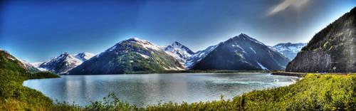Portage Lake Pano by pacmangeek