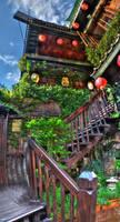 Weird Tea House by pacmangeek
