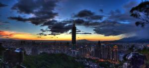 Taipei Evening by pacmangeek
