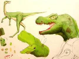 Dino Sketches by SassTheSassySasser