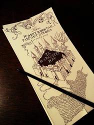 The Marauder's map by Suzumebachii