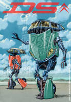 super-gobots feat Citroen DS by a-loft-on-cybertron