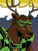 Battle Beasts - Deer Stalker by mike-loscalzo
