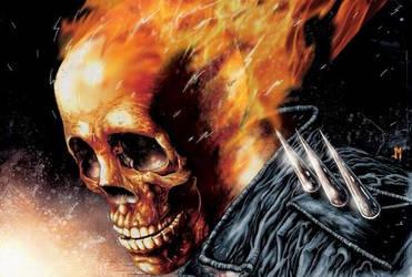 Ghost Rider digital art by joshmedorsart